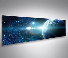 Bild auf Leinwand Sterne Weltall Space Panorama XXL Poster Leinwandbild Wandbild