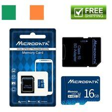 16GB Class 10 PREMIUM Micro SD Card + Adapter TF SDHC Flash Storage Memory