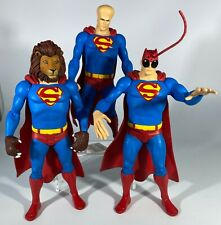 DC Direct Showcase Presents 3 Superman Transformed Action Figures. Lion, Insect