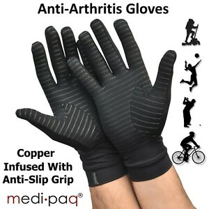 Anti Arthritis Gloves Copper Compression Therapy Finger Support Hand Pain Relief