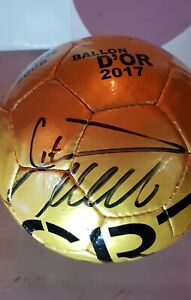 Cristiano Ronaldo signed Cr7 gold museum ball