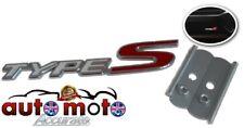 Metal Type S Sport Emblem Logo Front Grill Badge Honda Civic Accord 2 colours