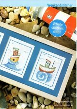 SHIPS AHOY by Lucie Heaton Cross Stitch pattern from magazine