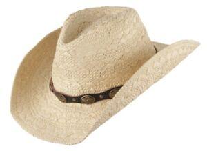 Scippis WINTON Cowboyhut Strohhut Sommer Sonne Strand Westernhut Hut Sonneschutz