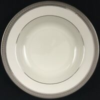 NEW Rimmed Soup Bowl Palatial Platinum by Mikasa Fine China L3235 8 1/2""