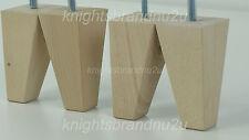 4x primas Natural Muebles De Madera feet/legs-sofá, silla, Taburetes 125mm M8 (8mm)