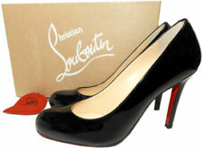 Christian Louboutin SIMPLE Pumps Shoes Black Patent Leather 37.5