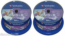 Verbatim DVD+R 16x full 43512 large imprimable 50 + 50 = 100 disques pack spindle