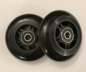 MICRO MAXI SCOOTER REPLACEMENT REAR WHEELS - Incl Rubber Sealed Bearings- 80mm