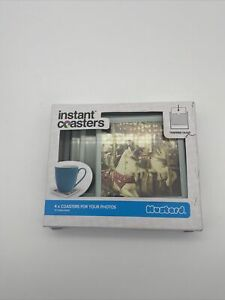 MUSTARD INSTANT COASTERS TEMPERED GLASS 4 COASTERS FOR YOUR PHOTOS