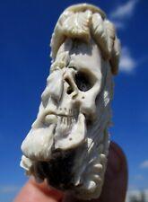 Cranio, januskopf da CORNO SCOLPITO Memento Mori-miracolo camera!