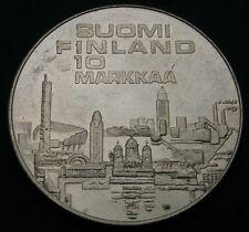 FINLAND 10 Markkaa 1971 S-H - Silver - European Athletic Championships - 2235