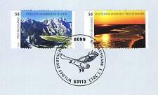 BRD 2013: Berchtesgaden + Wattenmeer Nr 3017+3018! Bonner Sonderstempel! 1A 1601