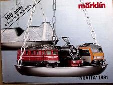 Catalogo MARKLIN novità 1991 100 ANNI DI FERROVIE IN MINIATURA  - ITA - Tr.10