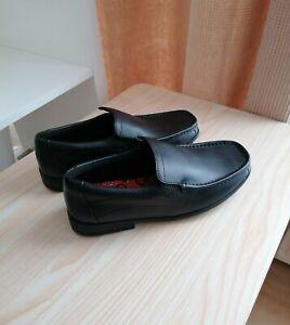 Clarks Older Boys Greinton Go Black Leather School Shoes UK Size 4H/EU 37