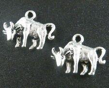 80pcs Tibetan Silver Cow Charms Pendants Jewelry DIY 18x14x4mm 17629