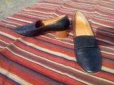 "Coclico 5.5 Black Spanish Leather Almond Toe 2"" Wooden Block Heel"