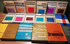 18 Bücher Buchpaket Wörterbuch Grammatik Synonym Fremdwörter Abkürzungen usw DDR