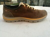 Skechers Shoes Relaxed Fit Brown Casual Lace Up Sneakers Men's Sz.8 Memory Foam