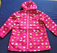 NWT GYMBOREE Animal Print Pink Panda Academy Heart Hooded Raincoat Girls XS 3-4