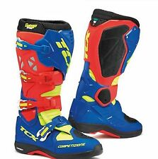 BOTTES TRAVERSER COMP EVO MICHELIN ROUGE BRIGHT BLUE JAUNE TCX TAILLE 43