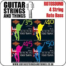 Rotosound 4 String Roto Bass Electric Bass Guitar Strings - RB35 RB40 RB45 RB50