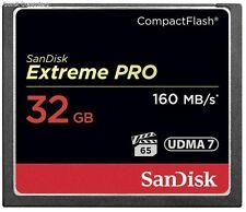32GB SanDisk Extreme Pro Compactflash  CF-Karte 160MB / S UDMA 7 SDCFXPS-032G