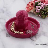 Trinket Tray Hot Pink Owl Jewelry Treasure Holder Girls Knick Knack Tray