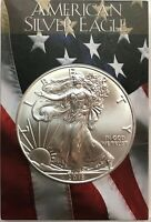 "2019 SILVER EAGLE DOLLAR - 1 OZ. AMERICAN SILVER EAGLE IN CUSTOM ""FLAG"" HOLDER"