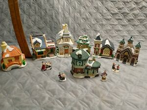 christmas village houses lot