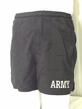 US ARMY PT WARM-UP IPFU LINED SHORTS BLACK PHYSICAL FITNESS TRAINING SMALL VGC