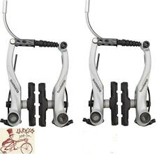 SHIMANO T4000 ALIVIO LINEAR V-BRAKE SILVER FRONT AND REAR BICYCLE BRAKES