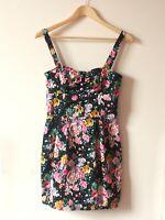 Mango colourful floral print sleeveless mini dress EU size M