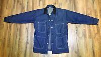 Bob Barker Blue Denim Jacket Blanket Lined Barn Prison Chore Coat Sz Medium38/40