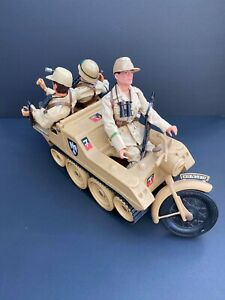 Action Man 3 Figures Afrika Korps & Kettenkrad (by Cherilea) Vehicle