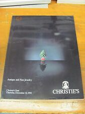 A965 OLD PAWN CHRISTIE'S EAST ANTIQUE AND FINE JEWELRY DEC 12, 1991 MAGAZINE