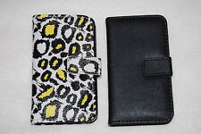 CELL PHONE CASE WALLET for iphone 4 4S LOT Black Yellow Leopard & Black SLOTS