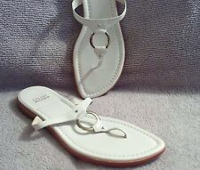 NWB Stuart Weitzman White Leather and Silver Ringbearer Sandals Size 10