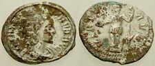 014. Roman Coin. JULIA MAMAEA, Fouree Denarius. Virtus. Fine