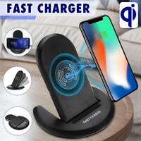 Wireless Fast Charger Charging Stand Pad For iPhone XS/XS Max For Galaxy Note