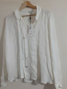 REISS LUCINDA-SNAKE BURNOUT Ivory Blose Size UK 8 Retails £165 New with tags