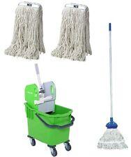 More details for 25l ergo kentucky mop green bucket set - complete mop & 2 extra mop heads