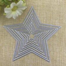 8 Pcs Metal Cutting Dies Stencil Embossing Die Card Crafts Making Pentagram Star