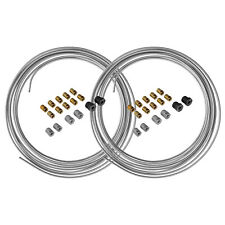 4LIFETIMELINES Steel Brake Line Tubing Coils and Fittings, 2 Kits, 3/16 x 25