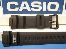 Casio Watch Band WV-200 A, AE-2000 W. Waveceptor Illuminator Black Rubber Strap