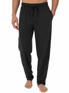 Fruit of the Loom Men's and Big Men's Jersey Knit Pajama Pant Black SIZE 4XL -Q6