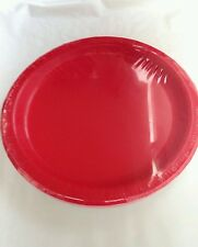 15x paper  red   disposible 23cm plate for all occasions