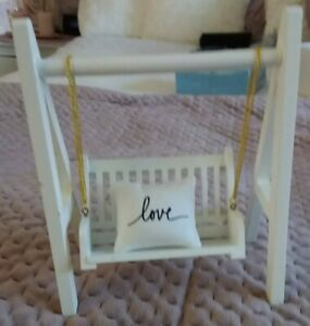 Miniature Dollhouse Accessories Outdoor Porch Swing 1/12th scale size