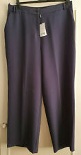 NEXT TAILORING Navy Wide Leg Trousers Size 18R BRAND NEW