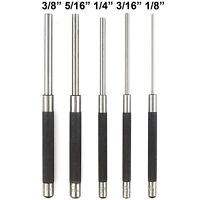 """5 PIECE 8"""" LONG LENGTH PIN PUNCH SET Tool Drive Starter Chisels Hardened Steel"""